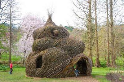 Patrick dougherty morris arboretum
